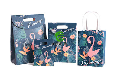 China Flamingo Coated Happy Birthday Paper Bags , Recycling Personalised Gift Bags supplier
