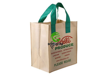 China Handled Tote Non Woven Shopping Bag With Button / Hook / String Closure supplier